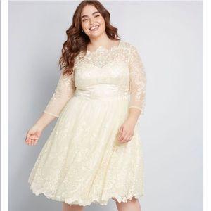 Gilded Grace Lace Dress